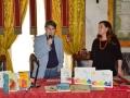 """#premioandersen2015 """"Come una moneta d'oro tiepido"""" - Palazzo Tursi, Genova, con Jorge Luján e Teresa Porcella - foto di Angelo Lavizzari"""