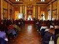 """#premioandersen2015 """"Come una moneta d'oro tiepido"""" - Palazzo Tursi, con Jorge Luján e Teresa Porcella - foto di Angelo Lavizzari"""
