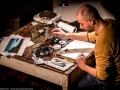 Pinocchio prima di Pinocchio - Lo spettacolo di disegno dal vivo di Alessandro Sanna con l'accompagnamento musicale di Francesca Ajmar e Tito Mangialajo Rantzer per la regia di Marco Chiarini - foto di Sara Ciommei