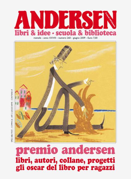 La copertina realizzata da Alessandro Sanna su Andersen n. 260 - giugno 2009