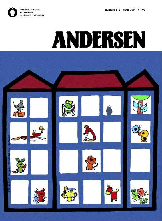 La copertina realizzata da Attilio per Andersen n. 310 (marzo 2014)