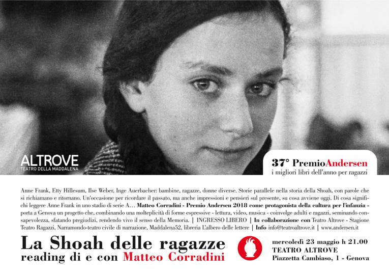 invito_reading matteo corradini_teatro altrove_23 maggio