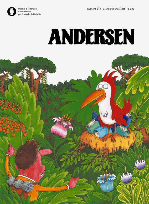 la copertina di Andersen n.319 realizzata da Enrico Macchiavello