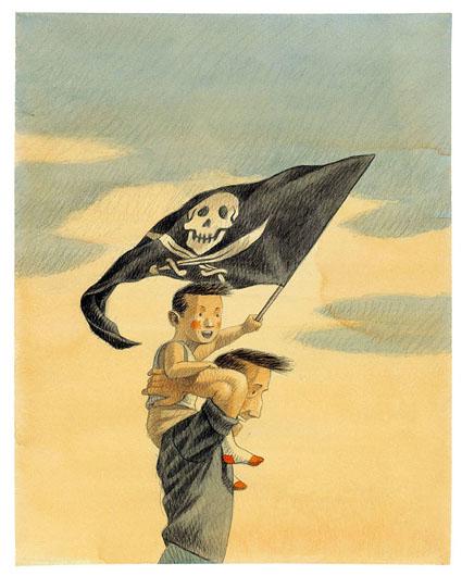 Mio padre è un grande pirata (Orecchio Acerbo, 2013) di Davide Calì e Maurizio Quarello