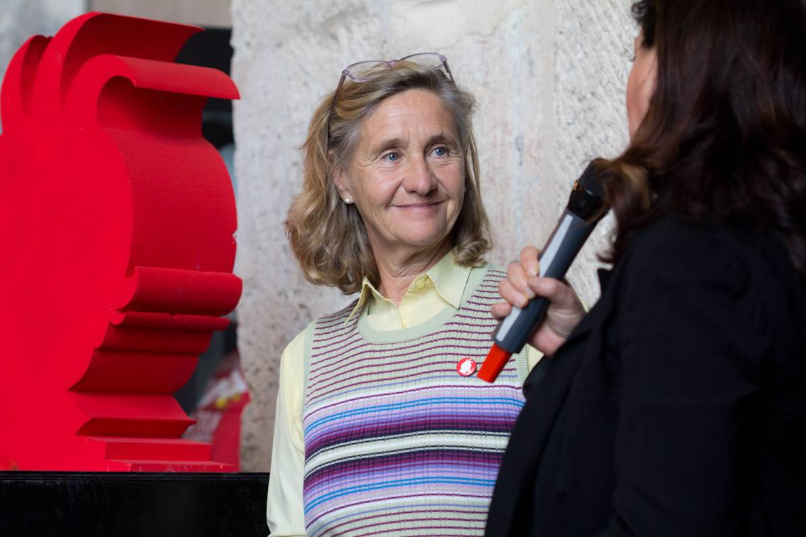 """Francesca Archinto, responsabile gruppo editori ragazzi di AIE, promotore con Andersen del nuovo Premio """"Roberto Denti"""" alla libreria per ragazzi dell'anno"""