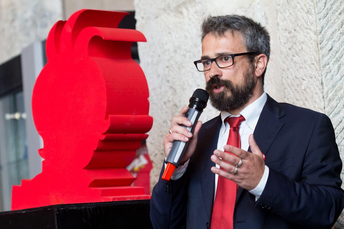 Anselmo Roveda, coordinatore redazionale della rivista Andersen e membro della giuria del Premio