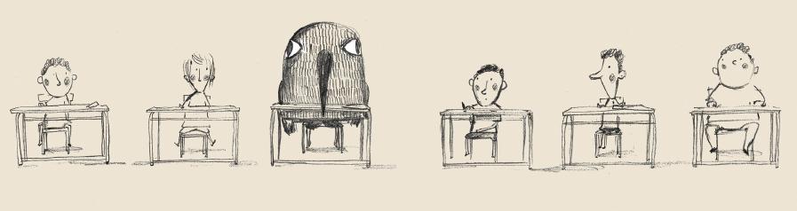 Illustrazione di Raul Nieto Guridi per Il giorno che sono diventato un passerotto (CoccoleBooks)