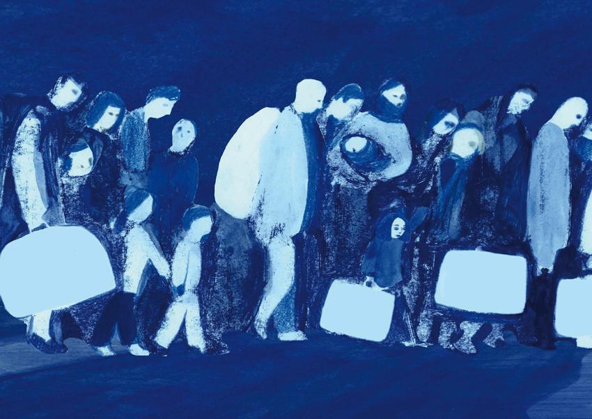 Illustrazione di Anna Gordillo per Rifugiata (Edizioni Terra Santa, 2018)
