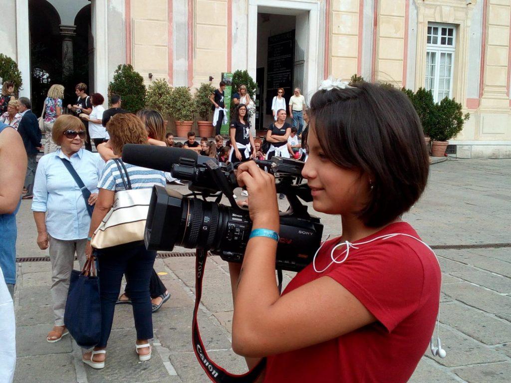 giovani reporter - Rebecca al lavoro per il Tg dei Ragazzi