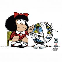 Una mostra per Mafalda, da 50 anni in Italia