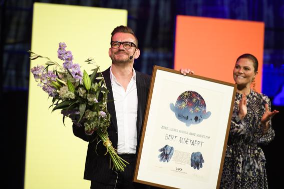 Bart Moeyaert e la principessa Victoria - pic by Stefan Tell