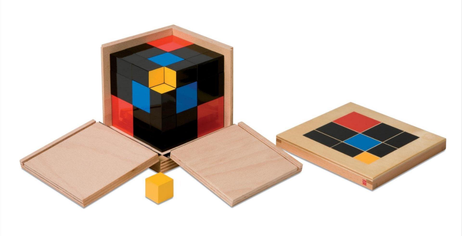 Toccare la bellezza - Maria Montessori, Cubo del trinomio